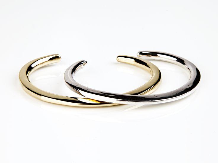 bracelets in silver or bronze