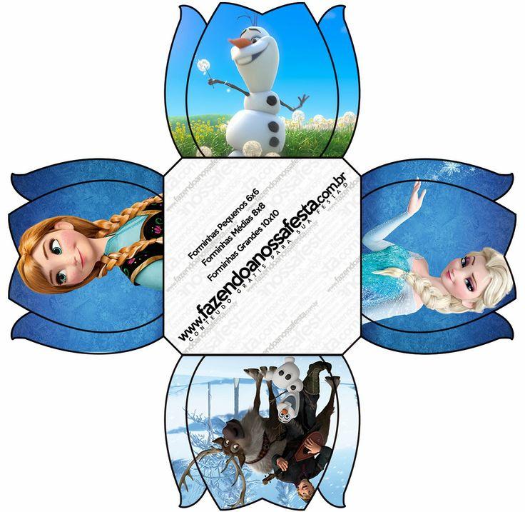 Frozen: Free Printable Party Boxes. Invitation?
