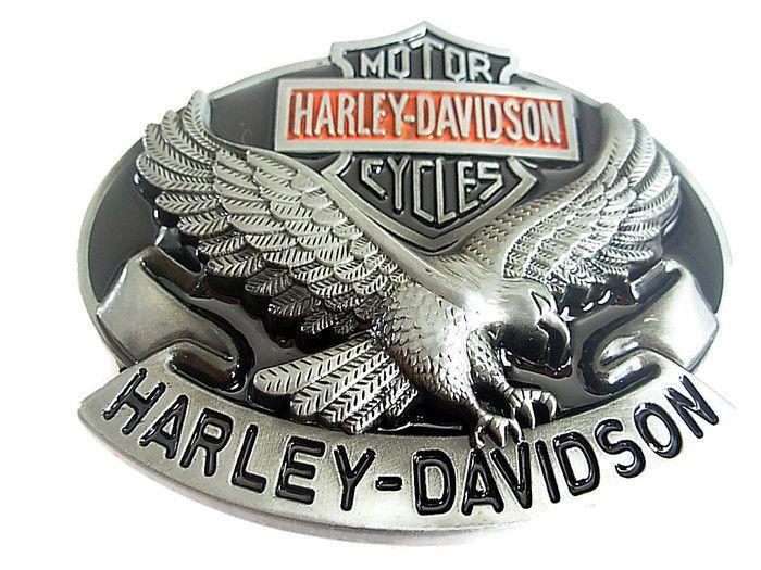 Harley Davidson Belt Buckle - Eagle Motor cycle Biker Leather Belts and Buckles