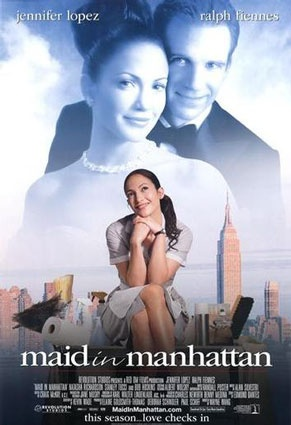 Maid in Manhattan: Chick Flicks, Fav Movie, Maidinmanhattan, Jennifer Lopez, Manhattan 2002, Movie Night, Maids In Manhattan, Favorite Movie, Ralph Fiennes