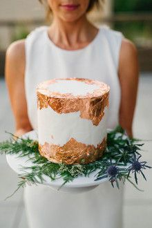 Copper foil wedding cake More