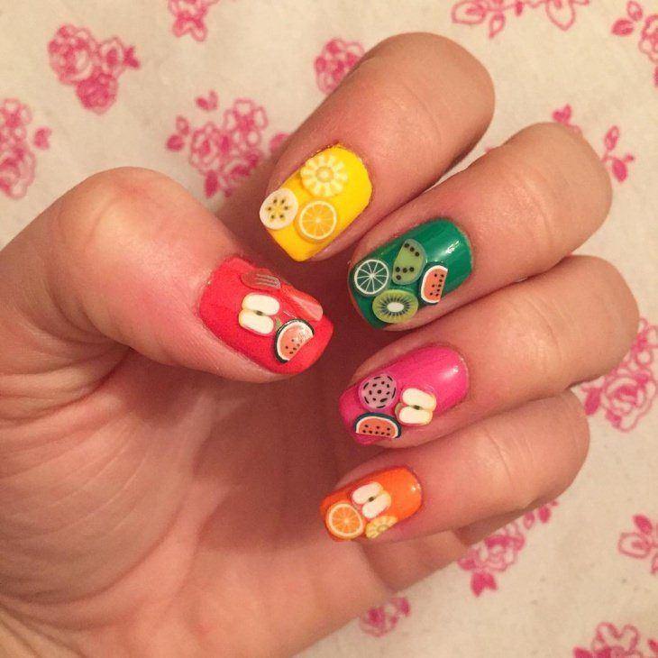 Fruit Nail Art Designs 2017