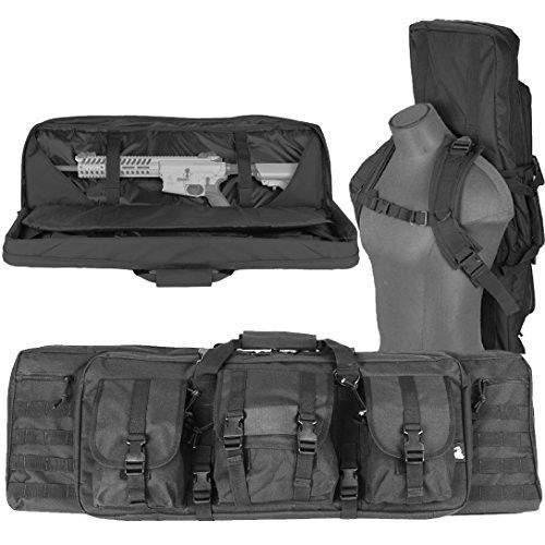 "Tactical Soft Gun Case Double Rifle Range Padded Case Soft Carry Bag AR15 36"" #LancerTactical"