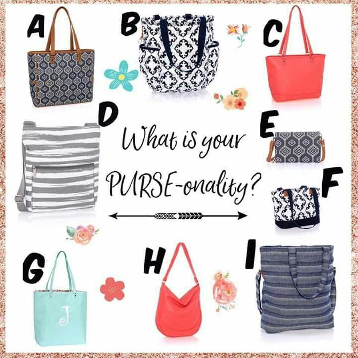 What's your PURSE-onality?   Check out our beautiful new Spring Collection at www.mythirtyone.com/HeatherHKemp  www.facebook.com/groups/HeatherKemp31/