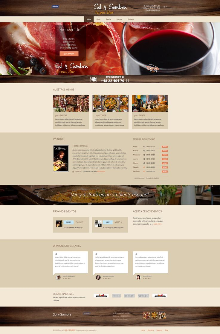 How to help your clients to find the finest place to eat? You could use GOURMET #wordpress #theme to build a very nice #website like http://solysombra.szkolajezykowawsl.pl/en/