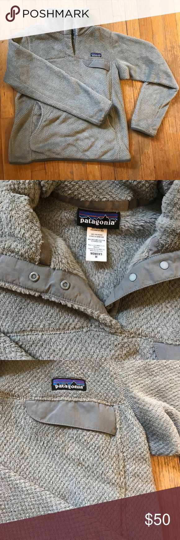 Patagonia Re-Tool Snap T Pullover Gray Patagonia pullover. EUC. Women's M Patagonia Tops Sweatshirts & Hoodies