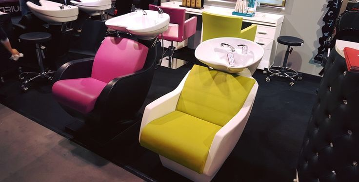 Ayala furniture stand at HAIR FAIR 2015 #Salonideas #Salondesign