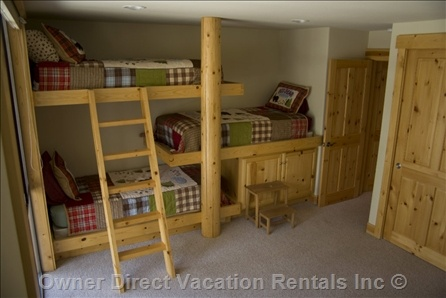 Bunk bed room - Triple bunk! Would be perfect for a lake house or loft room.