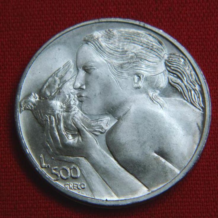 Идеальные 500 лир Сан Марино 1973 BU дева и голубь птица СЕРЕБРО Аукцион с Рубля
