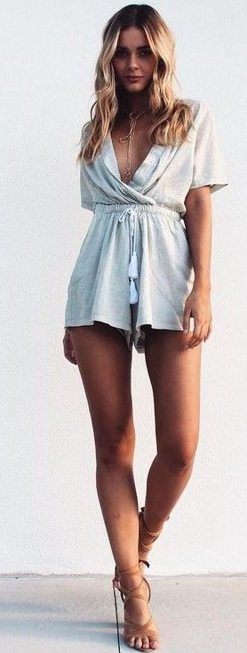 #summer #musthave #outfits | Neutral Playsuit                                                                             Source