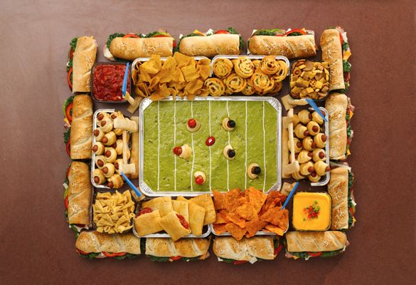 It's a Snackadium! Make the ultimate snack tray for the Super Bowl!