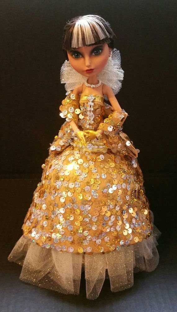 Glamour is a One of a Kind Ostrich Egg Art by EggcentricDolls