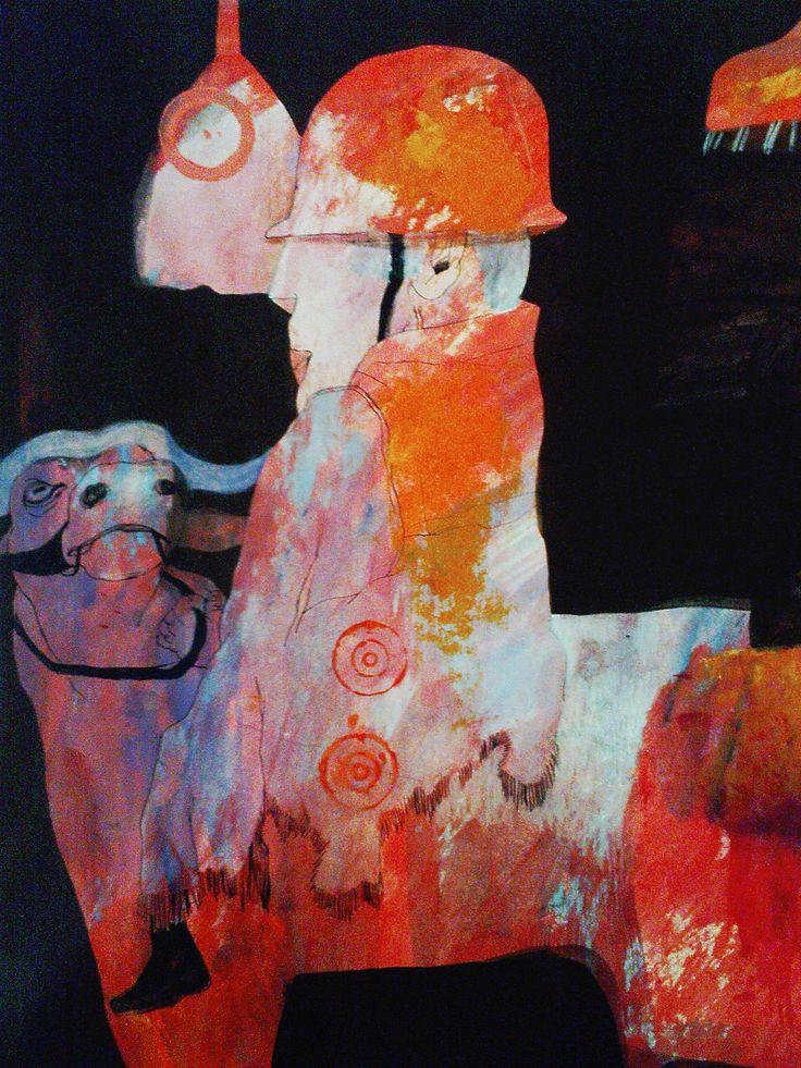 Nasrin CHARKHAT - detail - acrylic on cardboard - 40 * 60 cm - 2008