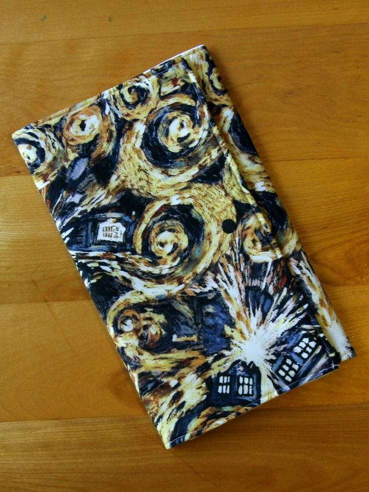 New to MiniGeeks on Etsy: Diaper Clutch - Small Diaper Bag - Changing Mat - Van Gogh & The TARDIS (40.00 CAD)
