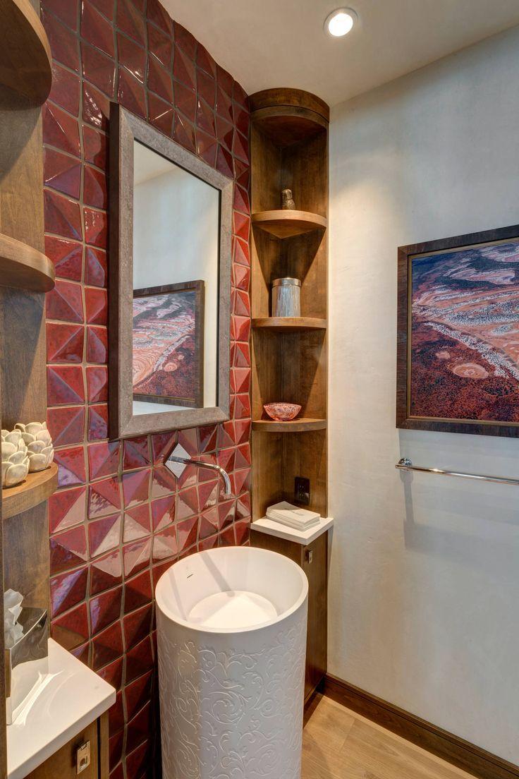 Красивый дизайн ванной комнаты: 120 фото различных стилей оформления http://happymodern.ru/krasivyy-dizayn-vannoy-komnaty/ Эклектичная ванная комната с элементами деревенского стиля