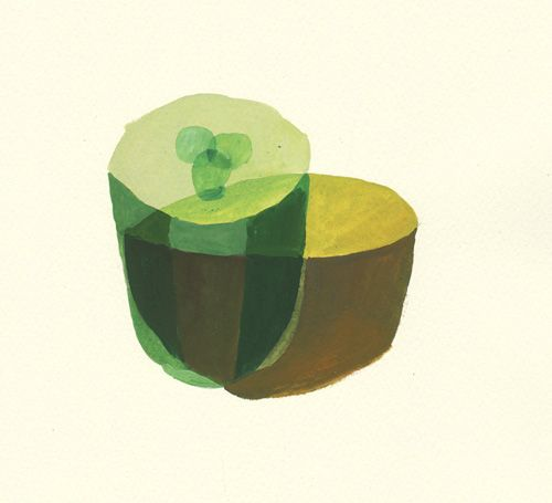 "A illustration with inspiration of "" Norwegian Wood "" Haruki Murakami "" a kiwi and a cucumber"""