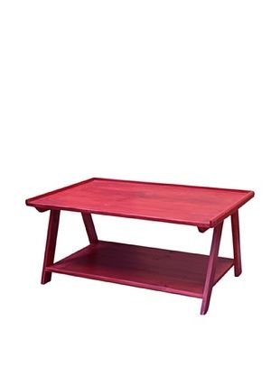 65% OFF 2 Day Designs Ladder Cocktail Table, Rouge