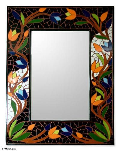 Mirror, 'Tantalizing Tulips'. Shop from #UNICEFMarket and help save the lives of children around the world.