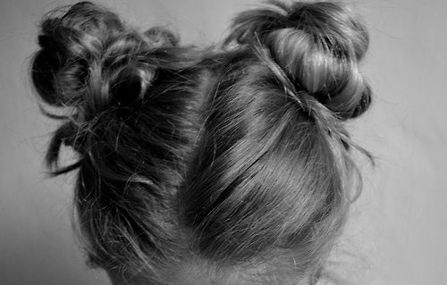 Two of our Carmelo Alessi Hairdressing lovelies Ela & Katie are fans of the 'Double Bun' - Miley style!