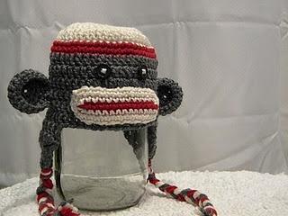 another sock monkey hatMonkeys Hats, Sock Monkeys, Crochet Hats, Hat Patterns, Socks Monkeys, Free Socks, Hats Pattern, Crochet Pattern, Crochet Socks