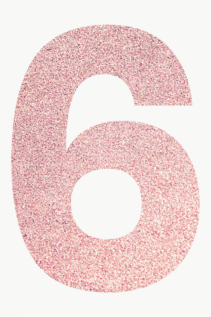 Glitter Rose Gold Number 6 Typography Transparent Png Free Image By Rawpixel Com Ningzk V Glitter Roses Summer Drawings Glitter