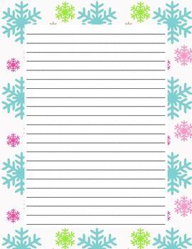 Winter Themed Writing Paper SAMPLER FREEBIE!