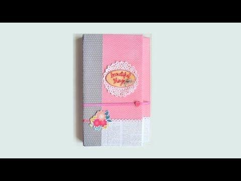 ▶ DIY Scrapbooking: Carpeta archivadora para tarjetas - Card file folder - YouTube