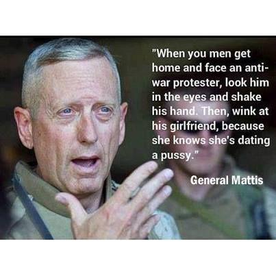General Mattis---- such a badass!!!