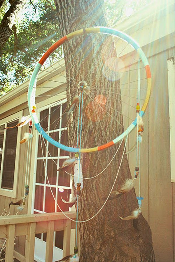 Bike wheel dream catcher, so would put it in my room!