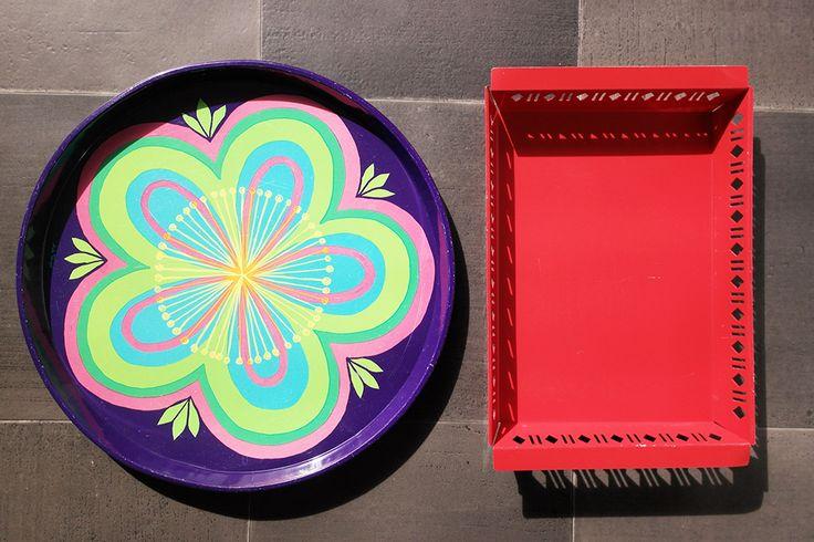 Retro trays, Anita Wangel Ira, Nilsjohan