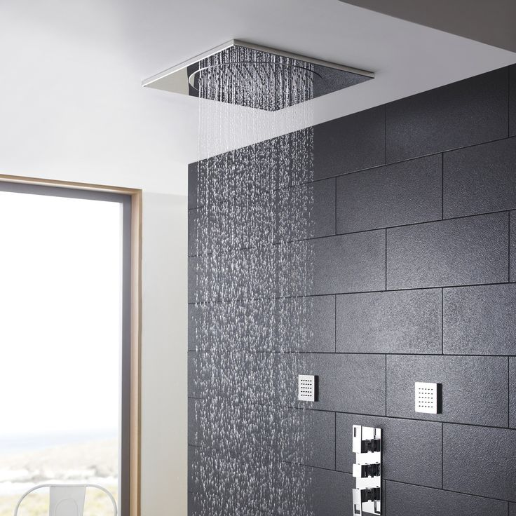 ceiling mounted rain shower head system. Accessories  Furniture Stunning Rain Shower Head Installation With Brushed Nickel Overhead Rainfall 18 best Bathroom images on Pinterest shower heads
