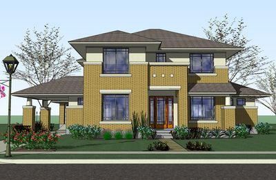 Plan 16817WG: Prairie Style Home With Porte Cochere