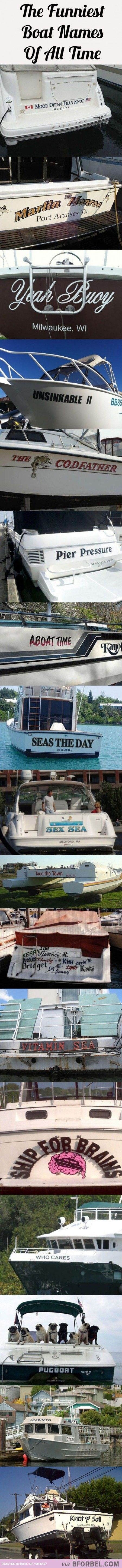 17 Of The Funniest Boat Names…