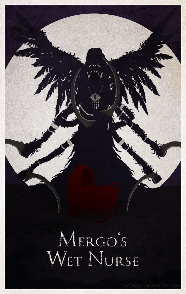 Bloodborne Minimal Poster - Mergo's Wet Nurse by Ob-servant