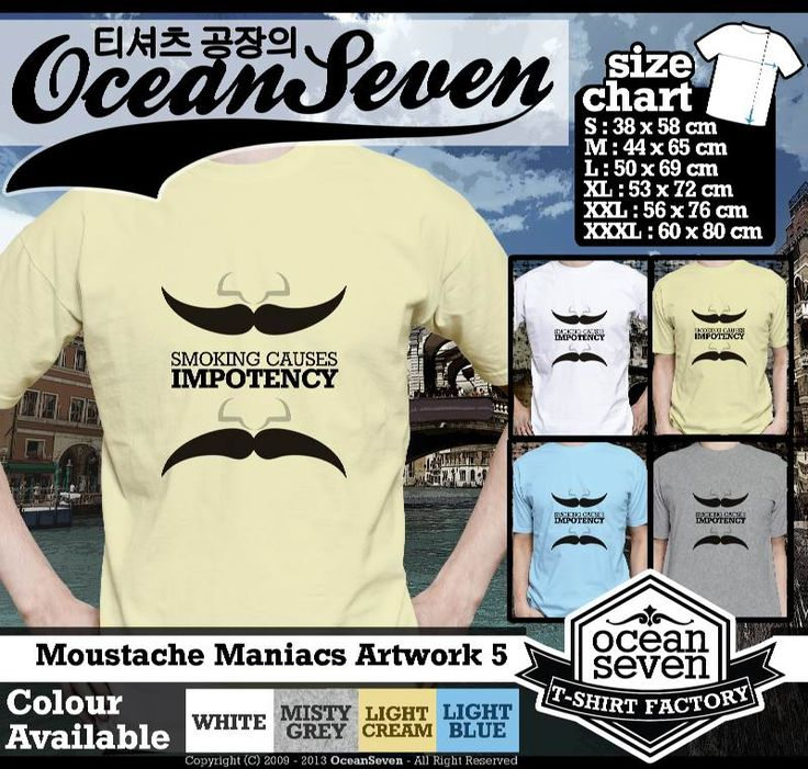 Kaos Moustache Maniacs Art Work