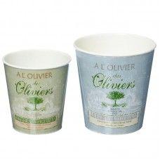 Ghivece plastic Olive set 2 buc H13-15