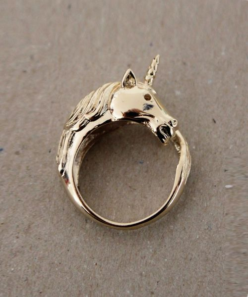 gold unicorn ring