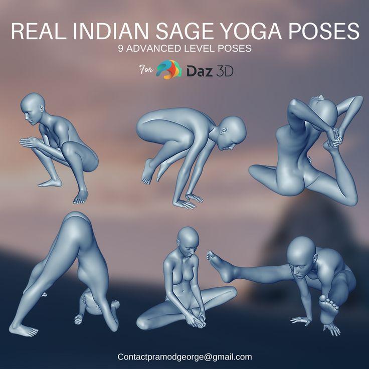 Real Indian Sage Yoga Poses   Yoga poses, Yoga poses ...