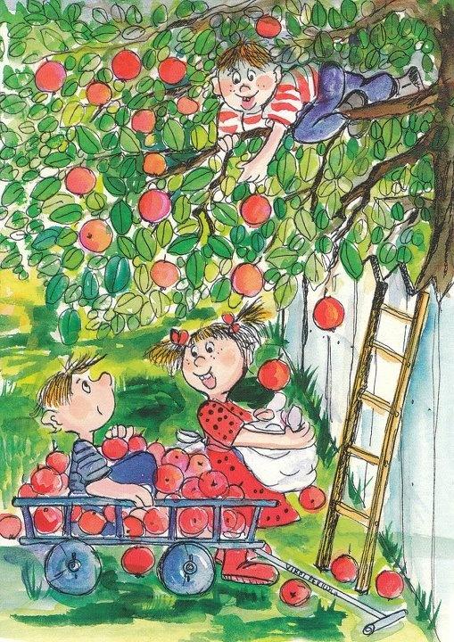 Apple Picking Artist Virpi Pekkala