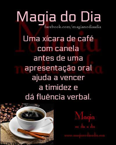 Magia no Dia a Dia: Magia do Dia: café