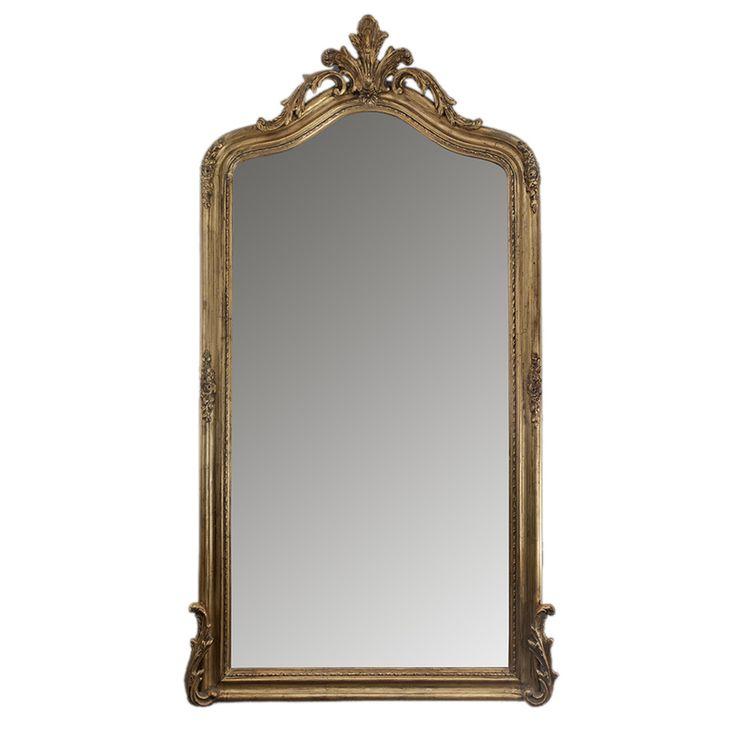 Высокое настенное зеркало в резной раме под золото (Гильда Restoration Hardware) купить в интернет-магазине The Furnish