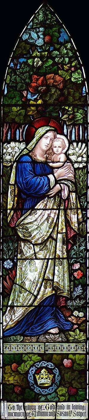 Madonna and Child Stained Glass Window St. Paul's Episcopal Church