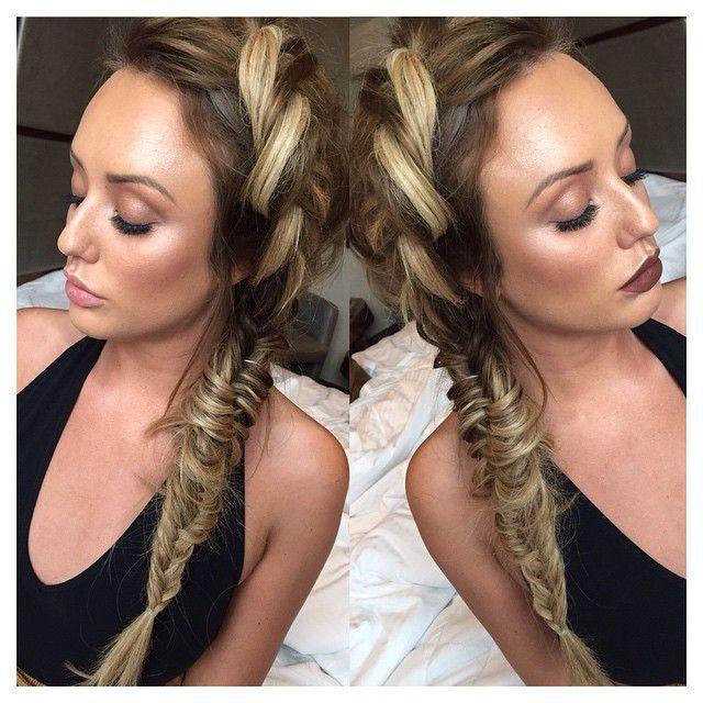 In love with this hair. Charlotte Crosby. #Plait #FishTailPlait #BigPlait #Braid