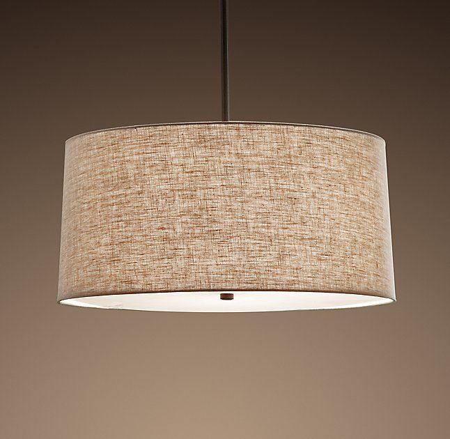 "[Restoration Hardware] Round Linen Shade Pendant: 20"" for $318 or 26"" for $393"