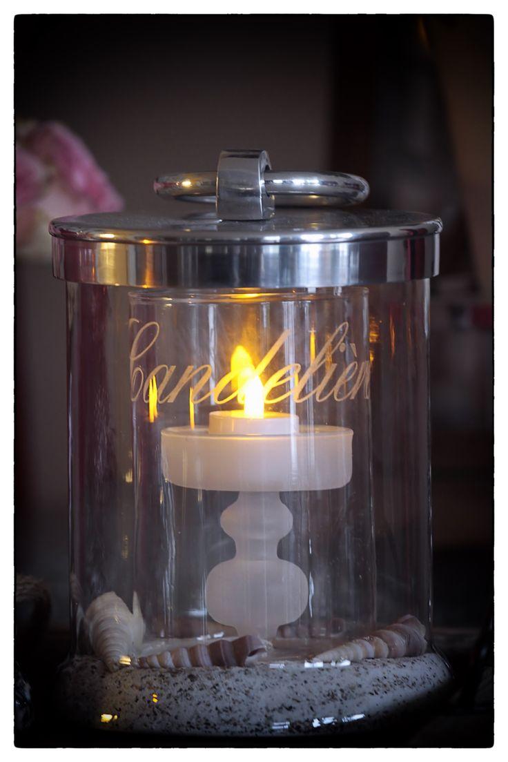 Cordoba Storage Jar met Candeliere Candle Holder