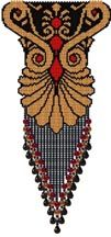 Elegance Necklace Pattern. With only 3 colors, you can easily change them to match that special outfit. Think ahead for the Holidays! Be creative with the fringe. I do not include a pattern for the fringe, but do give suggestions. Add your own creative strap. Graph provided in color code mode, with a thumbnail. Project Type: Bead Stitch: brick Beads Used: Delicas