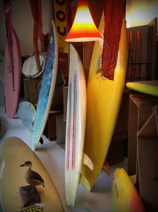 great collection of 70s and 80s surfboards
