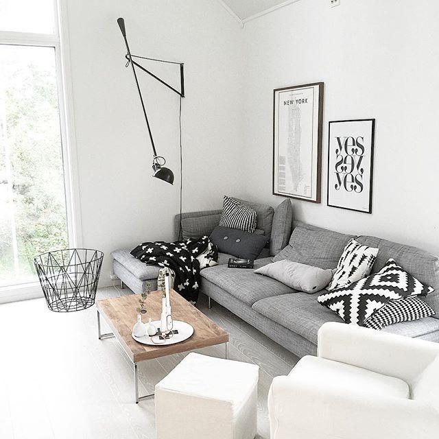 607 besten wohnzimmer skandinavisch bilder auf pinterest for Skandinavisch sofa