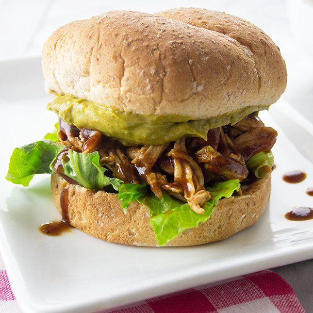 Recipe: BBQ Chicken Sandwiches with Jalapeño Avocado Spread | Skinny Mom | Where Moms Get the Skinny on Healthy Living
