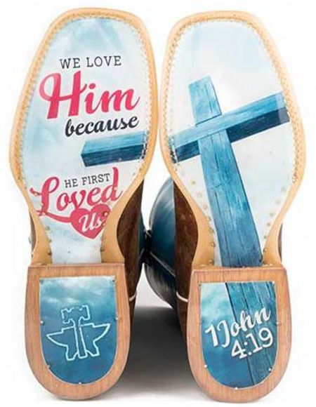 Tin Haul Women's I Love Jesus Western Boots